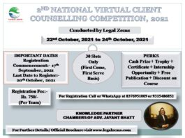 NATIONAL VIRTUAL CLIENT COUNSELLING COMPETITION 2021 by LEGAL ZEMS