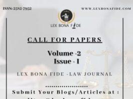 LBLJ (Lex Bona Fide Law Journal) (ISSN: 2582-7952)